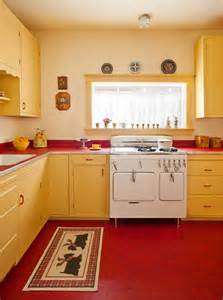 Red Canisters Kitchen Decor by Designing A Retro 1940s Kitchen Old House Online Old