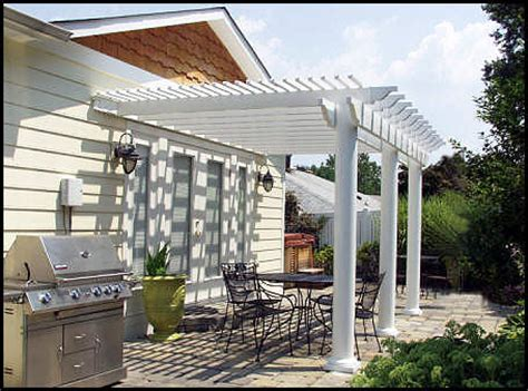 a vinyl pergola keeps the pests away so you can play