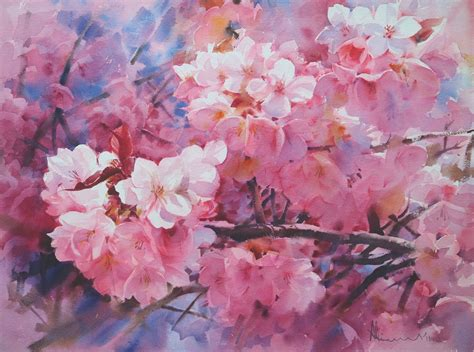water color flower watercolor flowers of every type from thai artist adisorn
