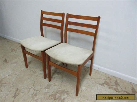 2 Danish Modern Nordic Furniture Teak Dining Room Side Teak Dining Room Chairs For Sale