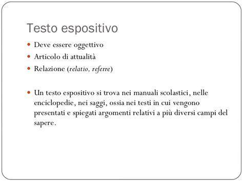 testo espositivo esempio testo narrativo