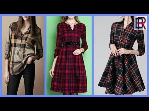 stylish  latest check frock designs  girlscasual