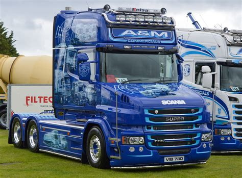 truckfest 2015 a m commercials scania t cab neil k44