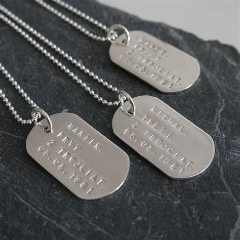 puppy tags personalised solid silver identity tags by dizzy notonthehighstreet