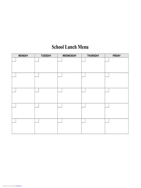 school lunch menu template free food menu template 4 free templates in pdf word excel