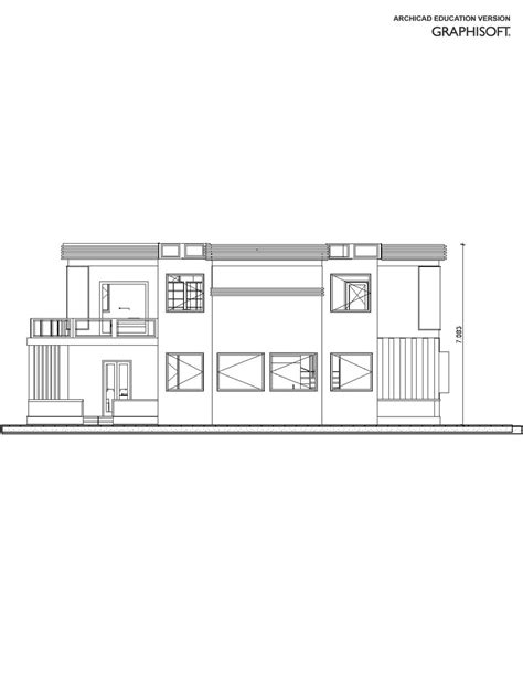 redesign my home entry 32 by maro1978 for redesign my house and render with a modern flat roof with parapet wall