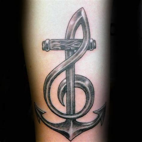 anchor tattoo chords 80 treble clef tattoo designs for men musical ink ideas