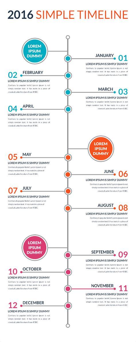 simple timeline template  premium templates