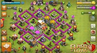 Best coc clash of clans town hall 6 anti giant healer trophy base
