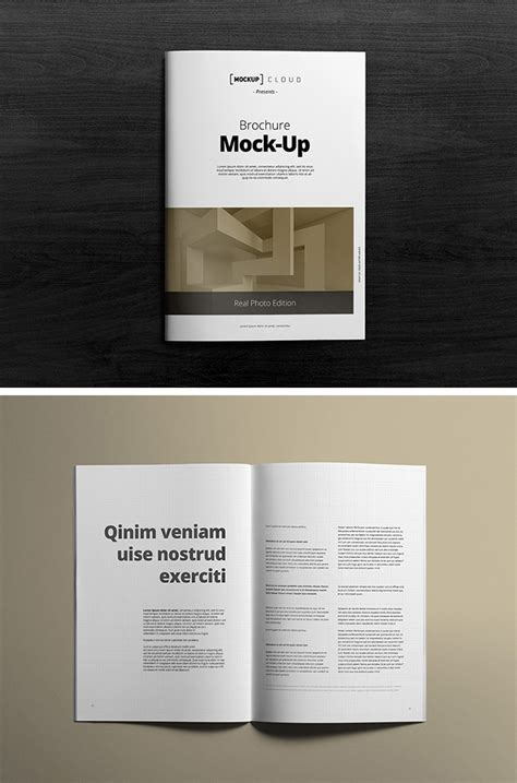 15 High Quality Free Flyer And Brochure Mock Ups Templates 365 Web Resources Brochure Mock Up Template
