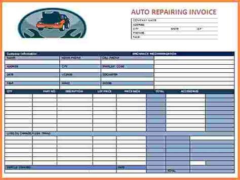 shop invoice template 6 auto shop invoice template invoice template