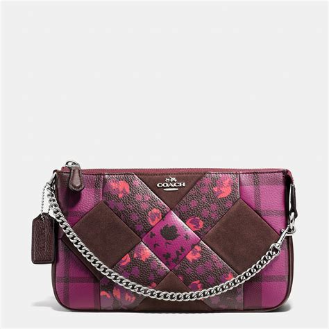 Coach Patchwork Wristlet - coach nolita wristlet 24 in patchwork leather in pink lyst