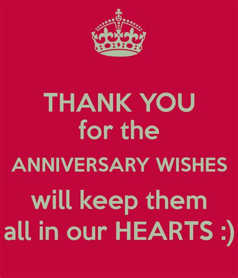 Wedding Anniversary Wishes Reply by Thank You For The Anniversary Wishes Will Keep Them All In