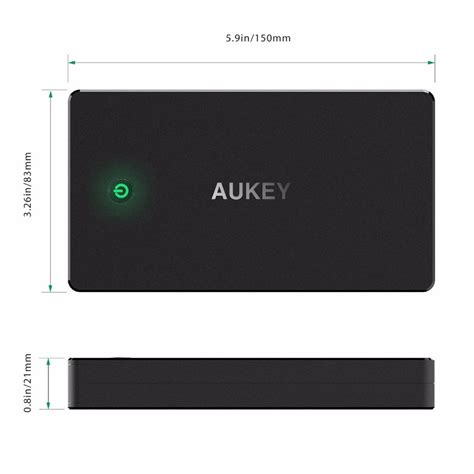 Power Bank Aukey מוצר aukey power bank dual usb 20000mah portable