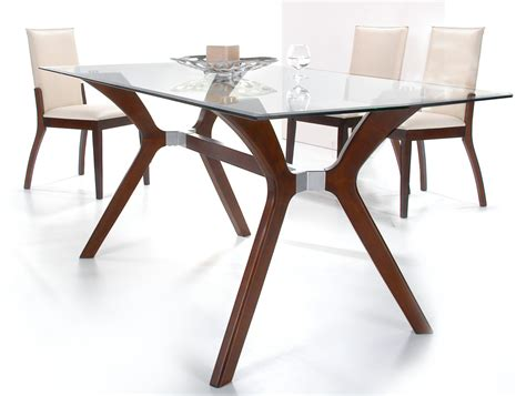 Luisa rectangular glass dining table with 4 side chairs chintaly luisa dt rct t