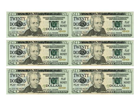 printable fake money that looks real 7 best images of printable play money actual size free
