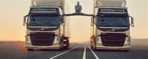 volvo truck ad jean claude damme stages split in volvo truck ad