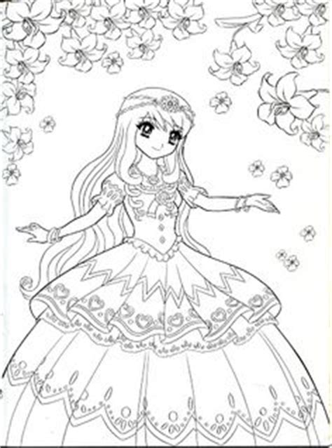 1000 Images About Coloring Pages Shojo Anime On Anime Princess Coloring Pages Printable