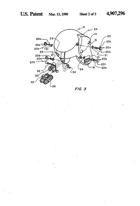 helmet design patents patent us4907296 apache helmet mounting structure for
