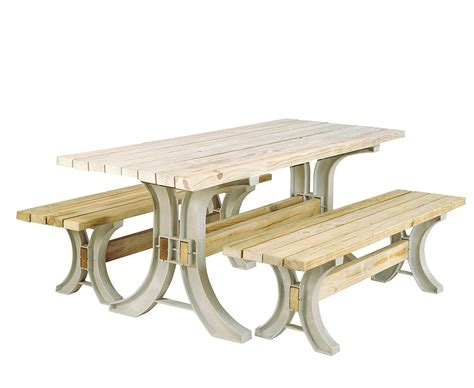resin frame kit picnic table furniture bench seat patio