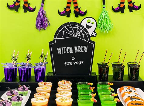 themes for a halloween party kid friendly halloween drink ideas party city