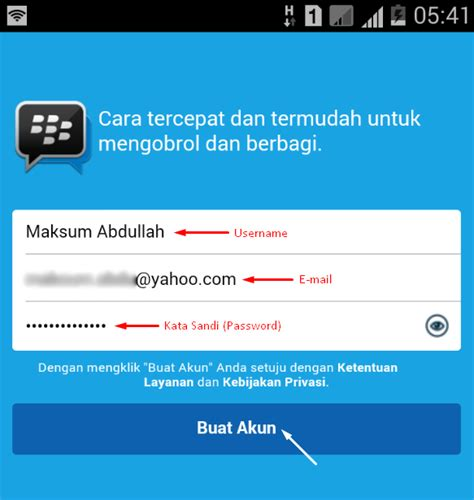 membuat email baru buat bbm cara membuat akun blackberry id di bbm android