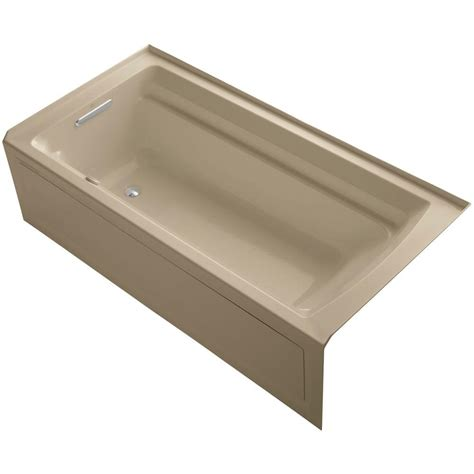 alcove whirlpool bathtub kohler archer 6 ft acrylic left drain rectangular alcove
