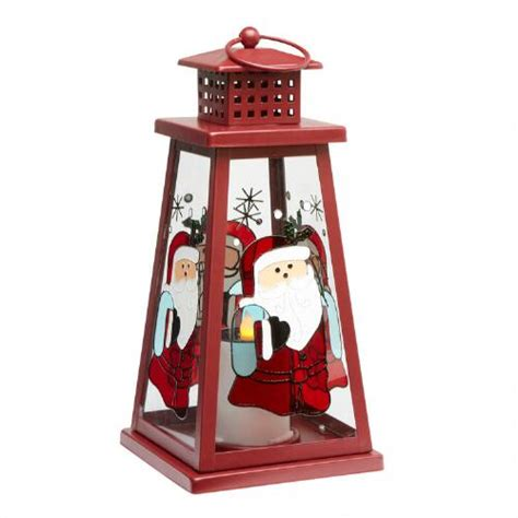 red solar lantern with santa christmas tree shops andthat