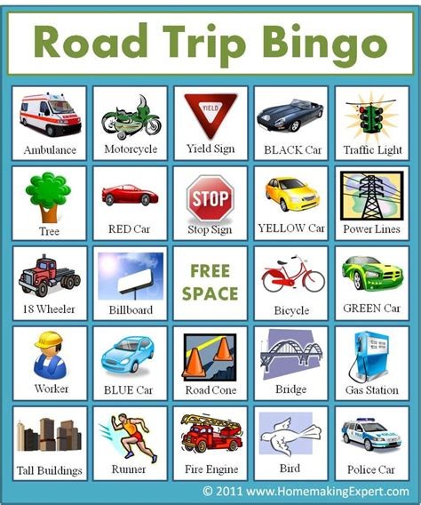 free printable road trip games for adults free road trip bingo game for kids homemaking expert