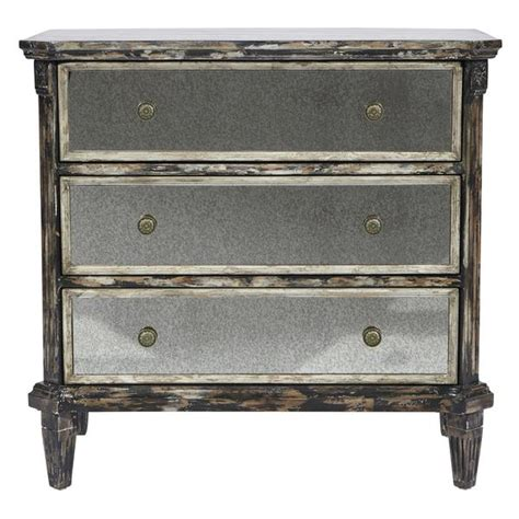 accent tables and chests distressed black and gray accent chest
