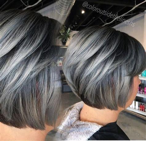 formula dimensional silver gray hair highlights