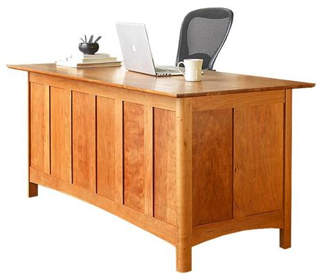 modern shaker executive desk this solid wood desk is