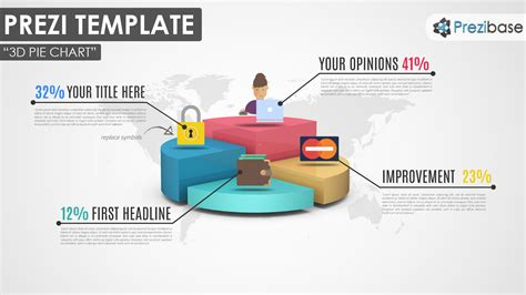 Infographic Diagram Prezi Templates Prezibase Business Graphs And Charts Templates