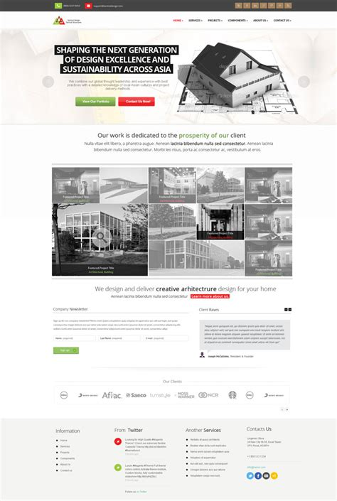 architectural design websites modern website layout designs for inspiration 22 exles