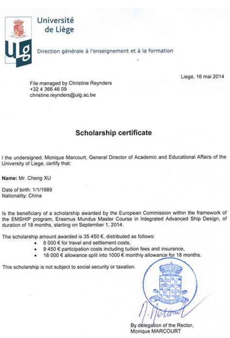 Invitation Letter Erasmus Honors Xu Cheng