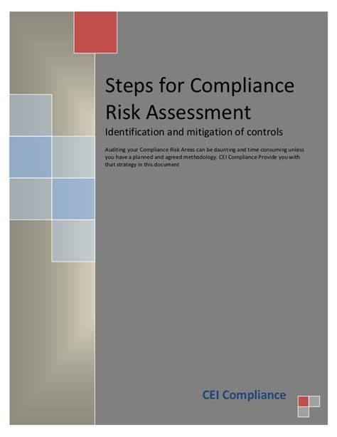 Mba Health Care Compliance Linkedin by Compliance Risk Assessment