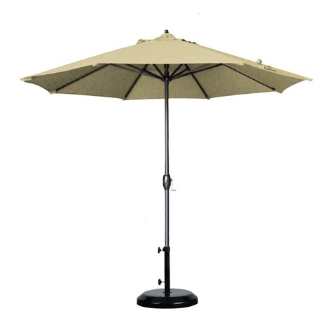 Outside Patio Umbrellas Shop California Umbrella Antique Beige Market Patio Umbrella Common 9 Ft W X 9 Ft L Actual 9
