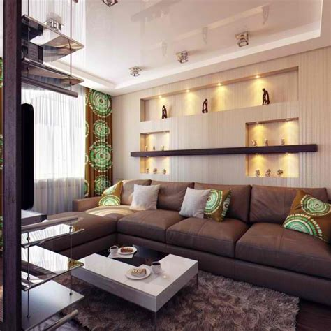 Brown And Green Living Room Ideas by 26 Small Inspiring Living Room Designs Decoholic