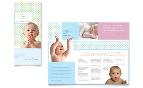 Infant Care Babysitting Brochure Template Design Free Pediatric Brochure Templates