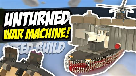 speed boat unturned war machine unturned speed build boat base youtube