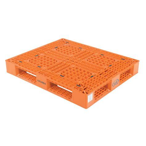 vestil 48 in x 40 in x 6 in orange plastic pallet skid