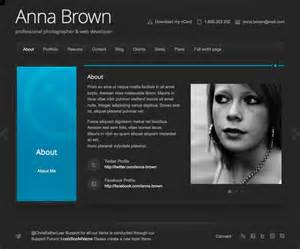 Resume Website by Html Resume Templates Images