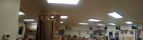 ceiling shop lights shop lighting for woodworkers the wood whisperer