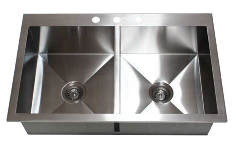 36 quot stainless steel bowl 50 50 topmount kitchen