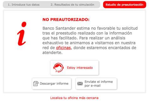simulador banco santander simulador de credito banco santander espa 241 a saubrigcreditos