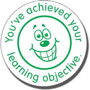 you ve achieved your learning objective pre inked ster