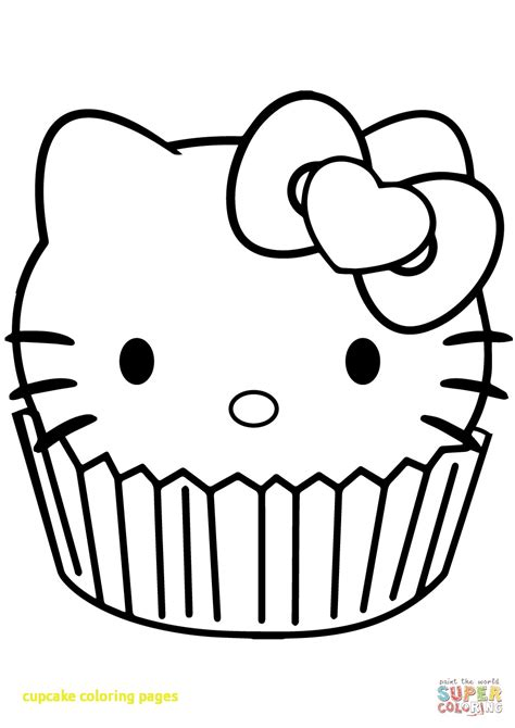 hello kitty birthday cake coloring page cupcakes printable coloring pages birthday cupcake http