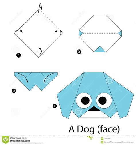 How To Make A Paper Puppy - how make origami step animal