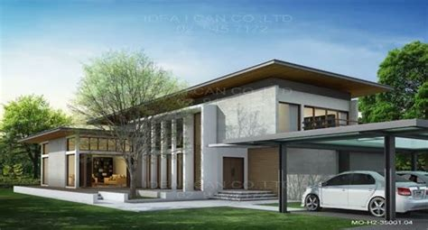 modern thai home inspiration modern style 2 story home plans for construction in thai