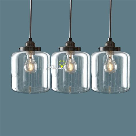 Nordic Clear Glass Jar Pendant Lighting 8861 : Free Ship! Browse Project Lighting and Modern